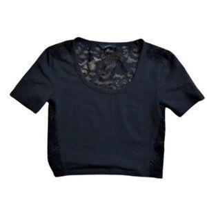 Talula Aritzia  lace back crop top tee T shirt